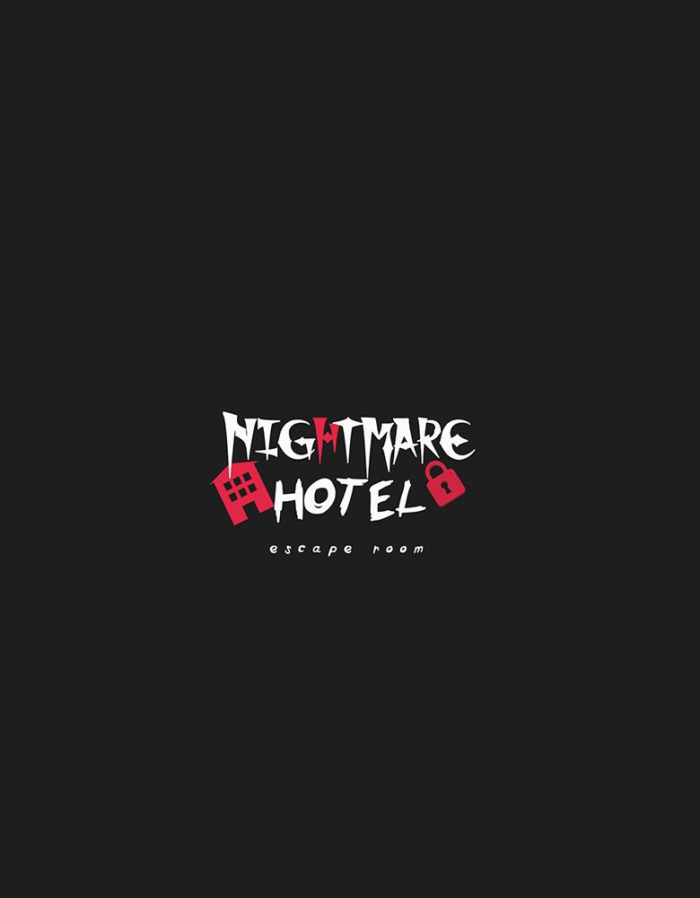 """Pabėgimo kambario """"Nightmare Hotel"""" Logotipo sukūrimas"""