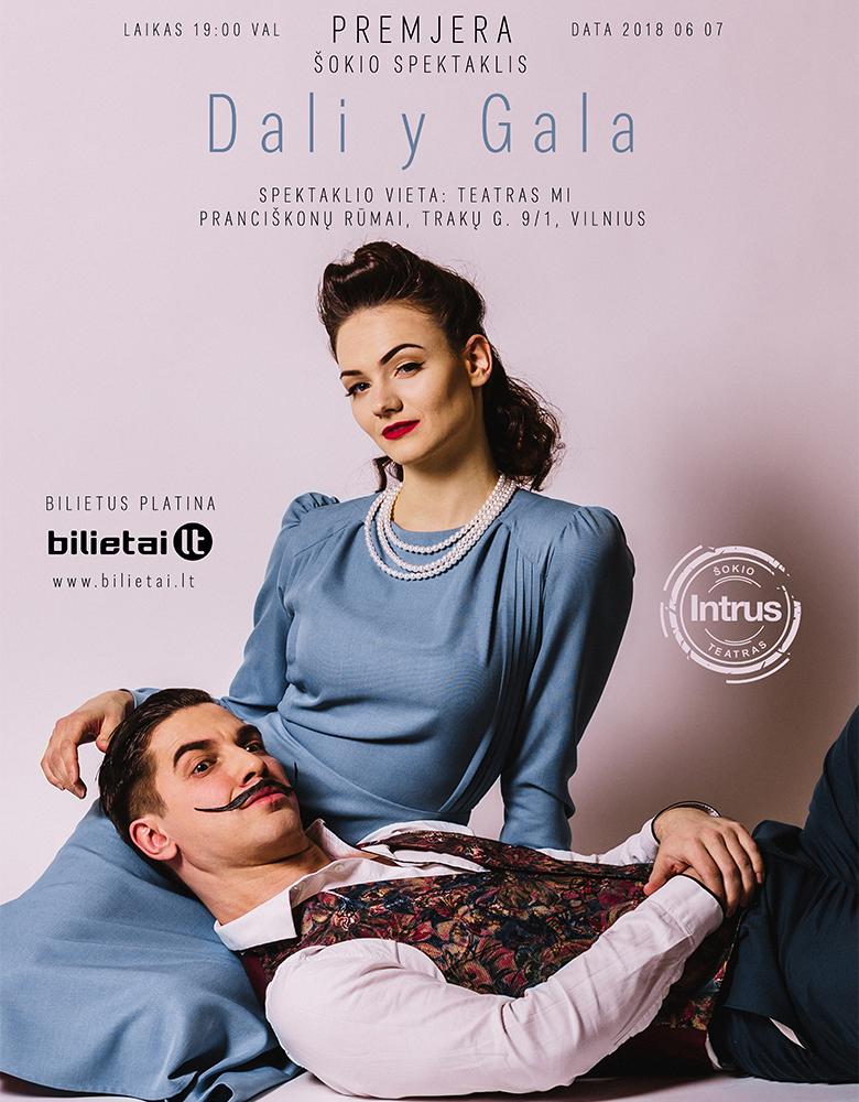 Dali-Y-Gala reklaminio plakato sukūrimas