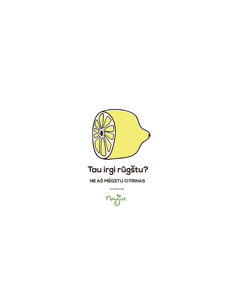 """Reklaminio maketo sukūrimas """"Rūgščios citrinos"""""""