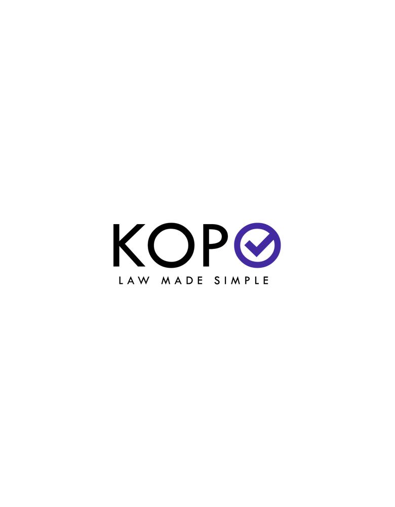 KOPO LAW MADE SIMPLE logotipo sukūrimas