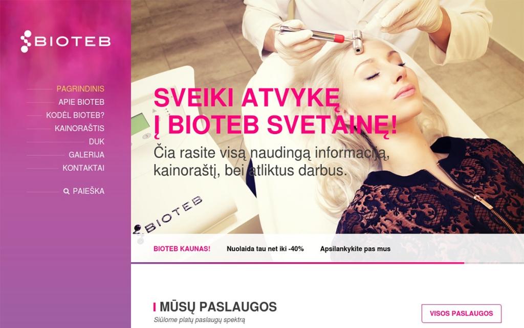 BIOTEB Internetinio puslapio sukūrimas